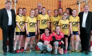 remise maillots Crédit Agricole CALHB Moins 13 filles Dep