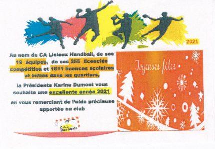 voeux CA Lisieux Handball  21
